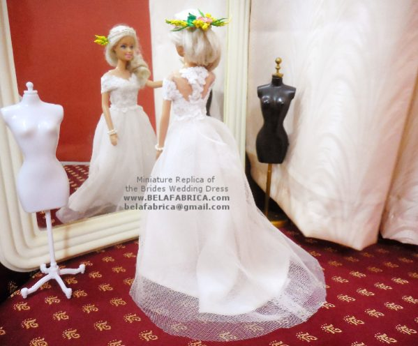 Best Wedding Day Gift for Bride Miniature replica wedding dress 25 years anniversary gift for wife Special Doll Wedding Gown Personalised