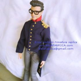 Male Ken Doll Groom Wedding Tuxedo Miniature Replica Veteran Army Uniform Gift for father Groom Husband Brother Suit Vintage Ancient